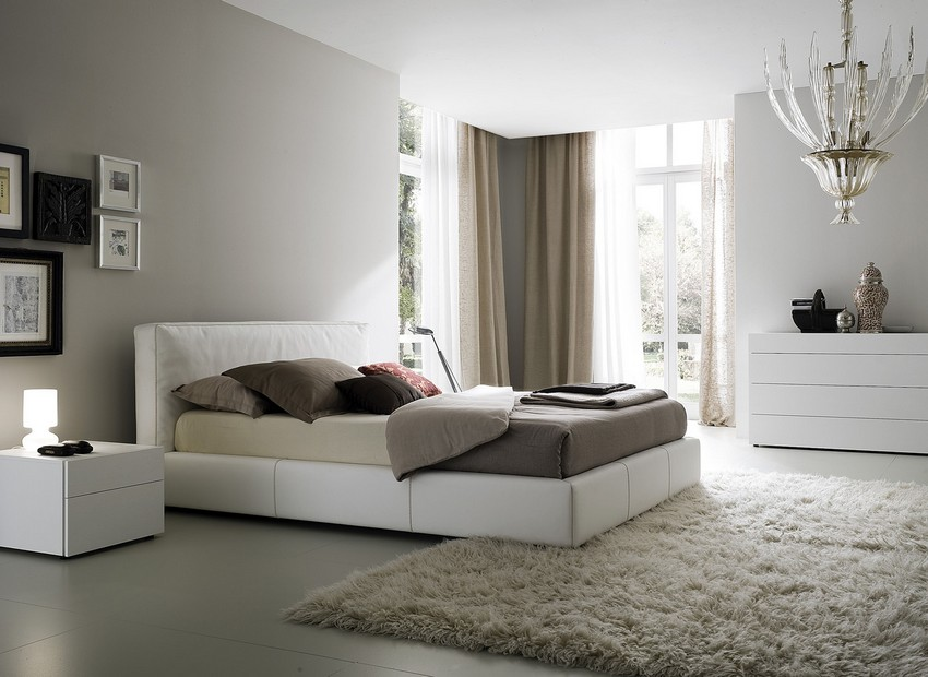 Cool White Cozy Bedroom Design