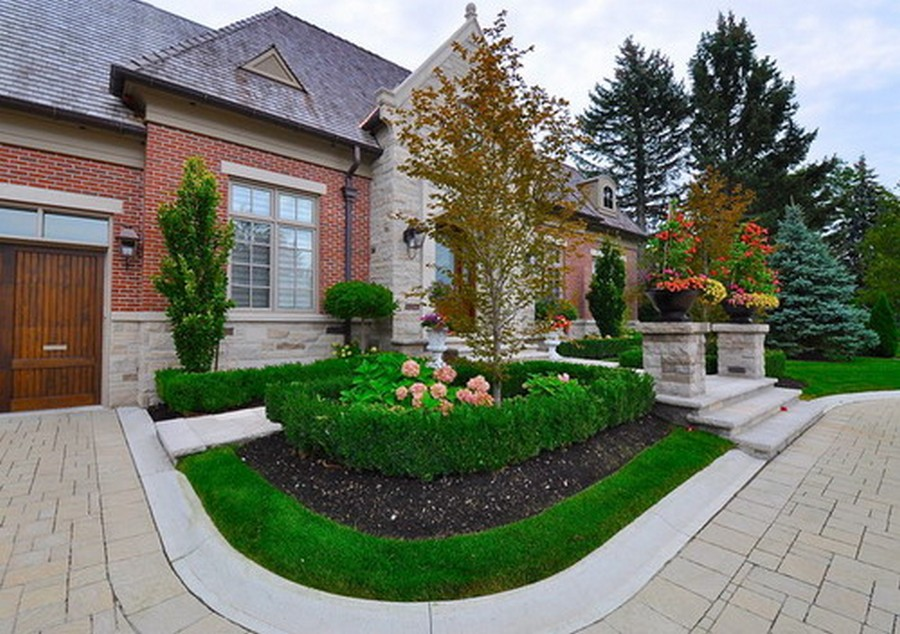 Country Club Front Yard Garden Ideas