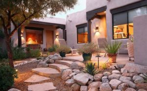 Decorating Home Garden with Rocks