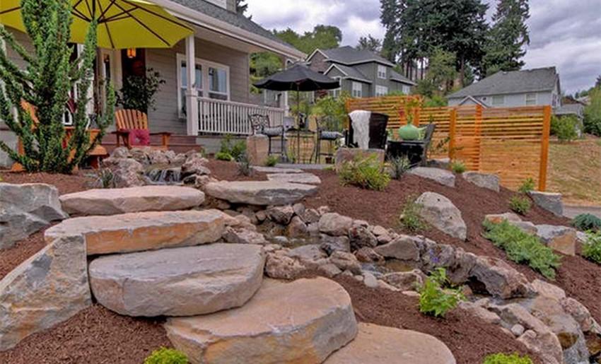 Home Garden Decor with Rocks