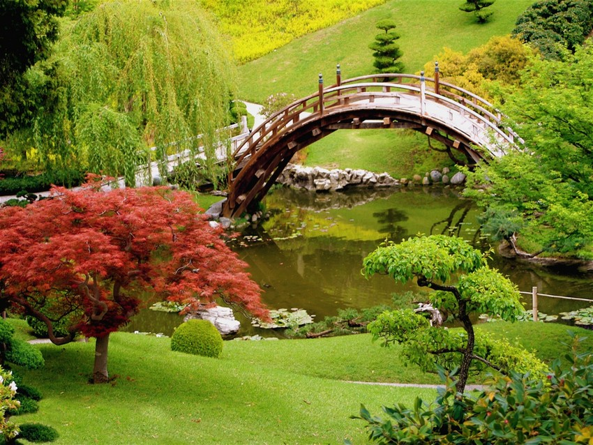 Japanese Style Garden Bridge Ideas
