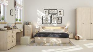Light Wood Scandinavian Bedroom Decor Ideas