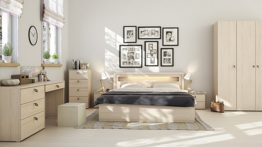 Light Wood Scandinavian Bedroom Decor Ideas