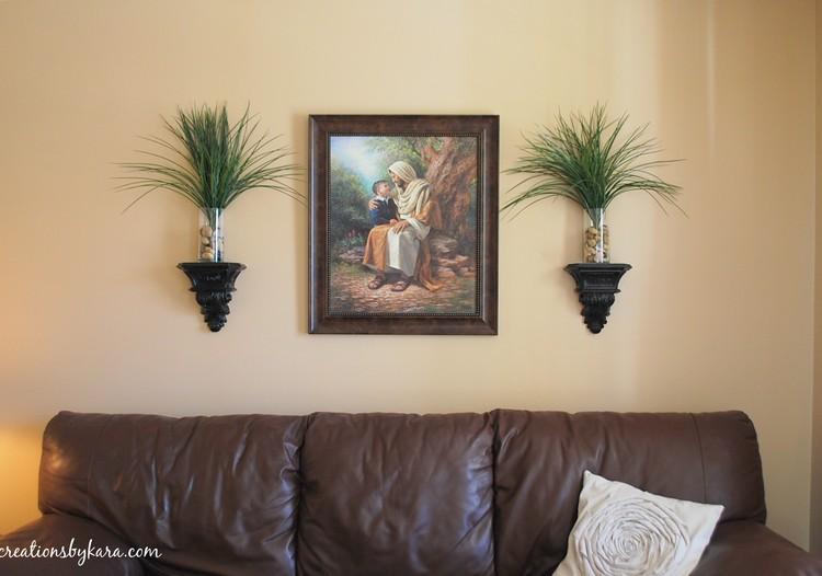 Living Room Decorative Shelves