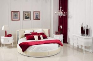 Modern Style Round Bed for Bedroom Decoration