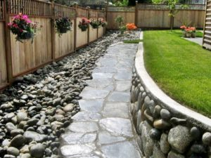 Outdoor Garden Decor with Rocks