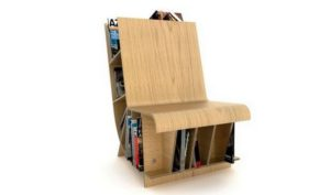 Reading Chair with Book Storage