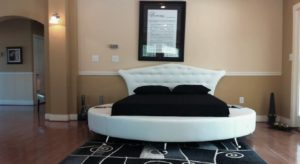 Round Bed Design for Bedroom Decor