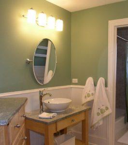 Rustic Bathroom Lighting Idea