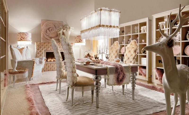 Shabby Chic Dining Room Decoration