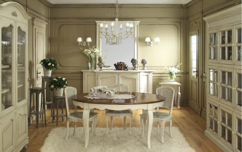 Shabby Chic Dining Room Designs French