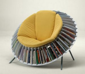 Sunflower Reading Chair with Book Storage