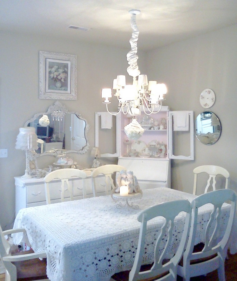 Top Shabby Chic Dining Room Ideas