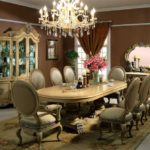 Victorian Style Dining Room Elegant Chandelier