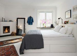 White Scandinavian Design Bedroom