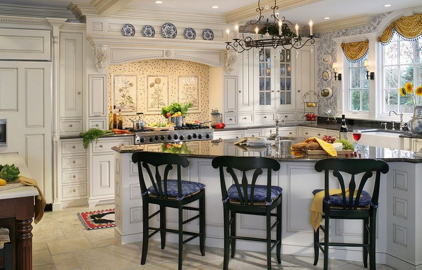 White Traditional French Country Kitchen