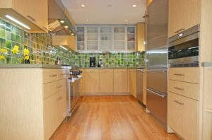 Wood Galley Kitchen Remodel
