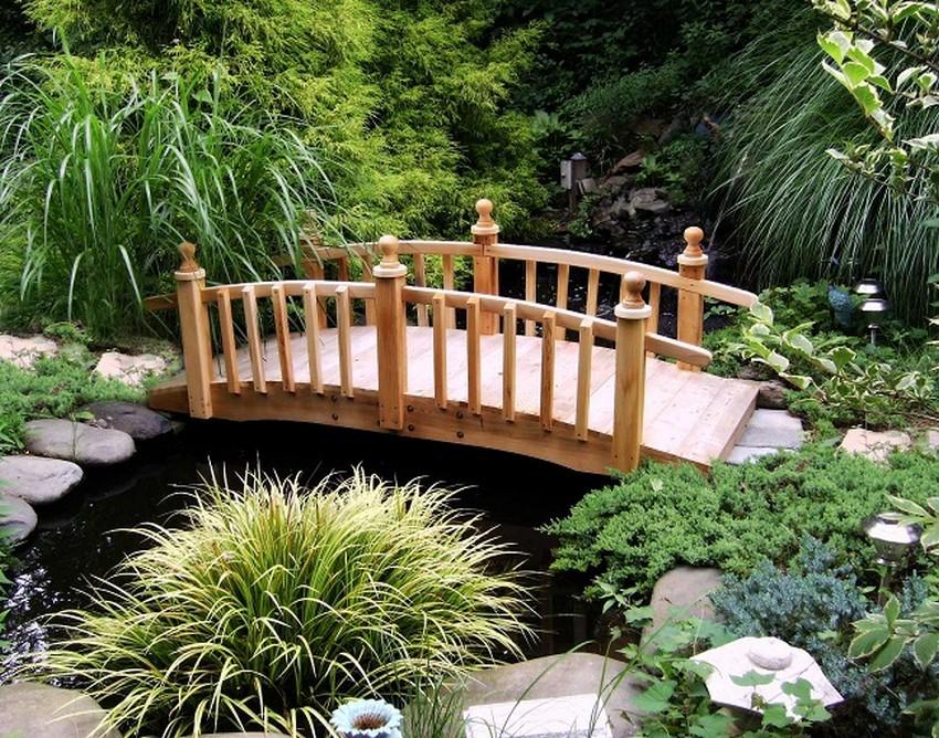 Wooden Garden Bridge Design