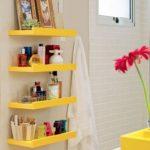 Yellow Bathroom Storage