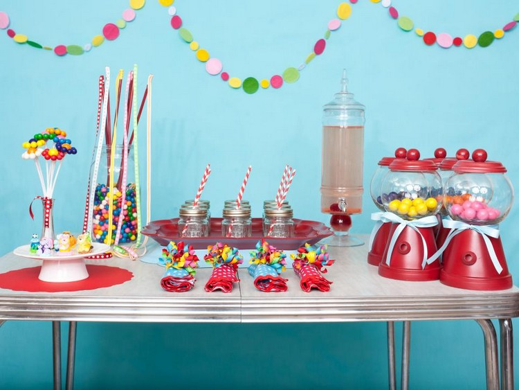 Birthday Party Table Decor and Wall Decor
