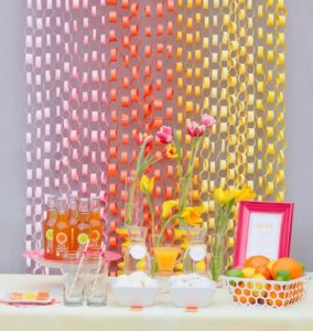 DIY Party Table Decor and Wall Decor with Paper Chain