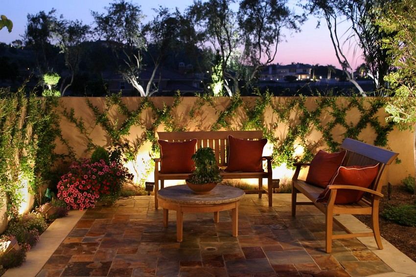 Landscape Lighting with Spotlights