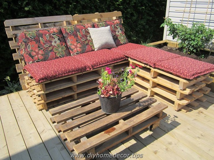 Pallet Patio Sectional Sofa