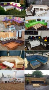 Pallet Corner Couches with Tables