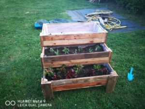 Wooden Pallet Stair Planter