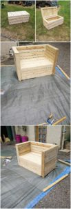 DIY Wooden Pallet Couch