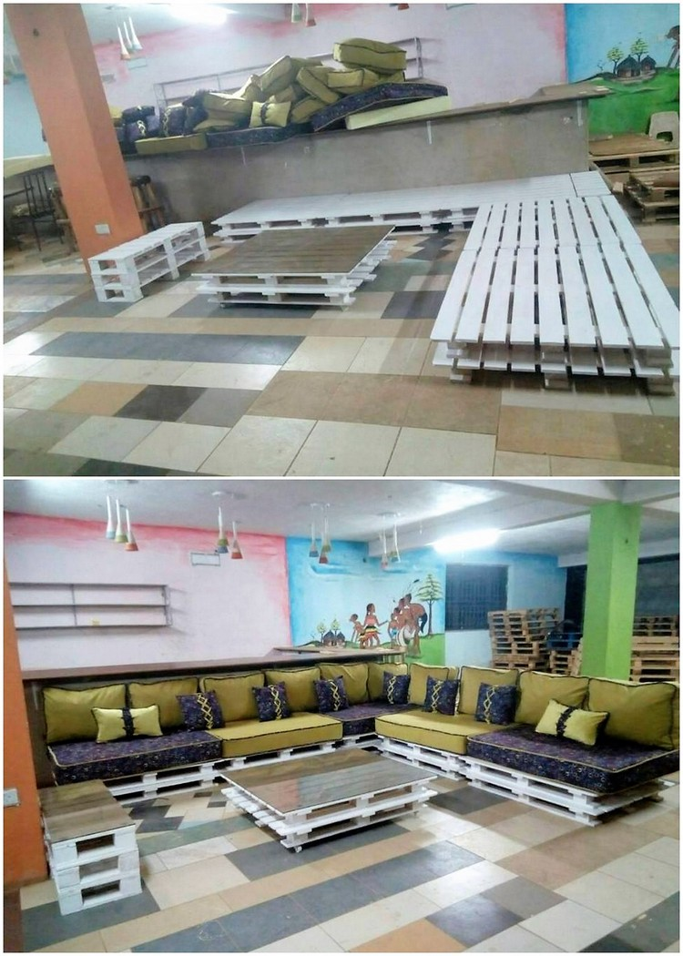 Giant Pallet Couch and Table Furnitue Set