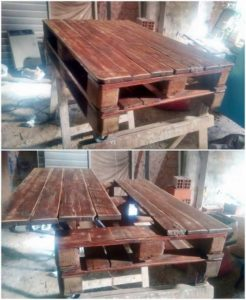 Lift Up Pallet Coffee Table