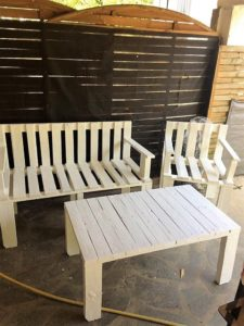 Pallet Bench, Chair and Table