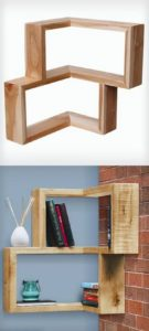 Pallet Corner Shelves
