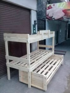 Pallet Double Bunk Bed