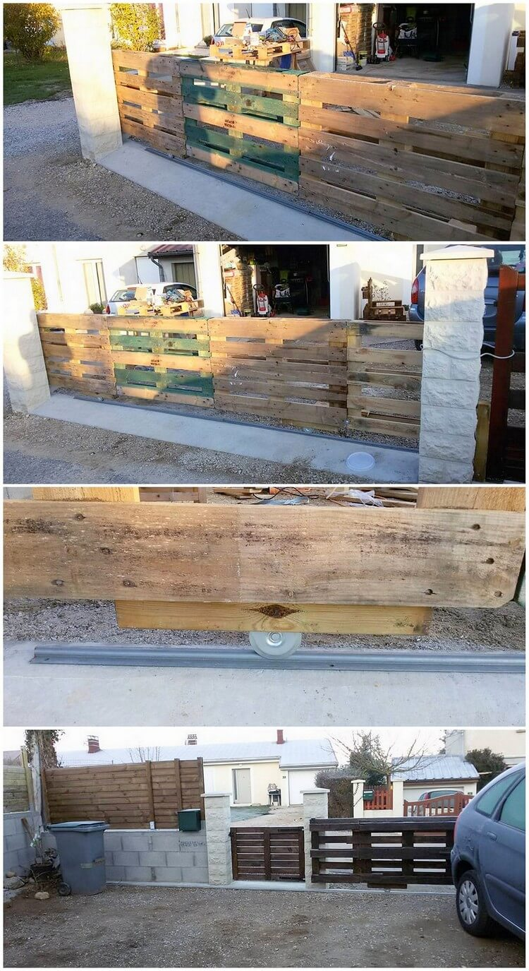 Pallet Fence with Sliding Doors