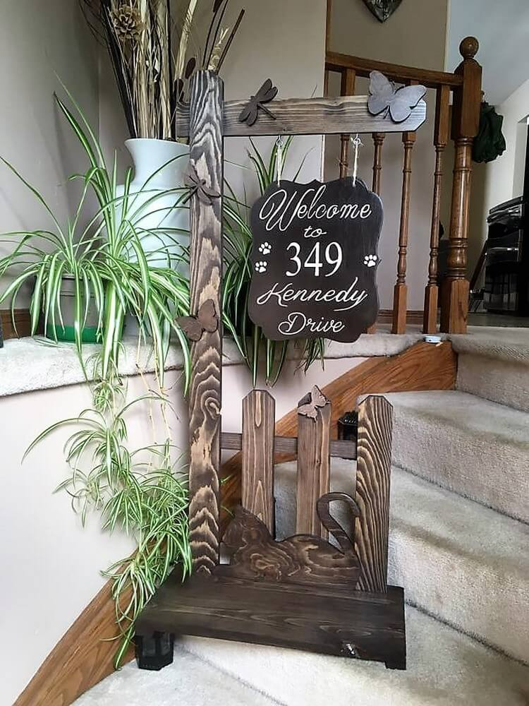 Pallet Home Welcome Sign
