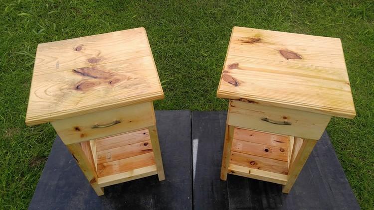 Pallet Nightstands – Side Tables