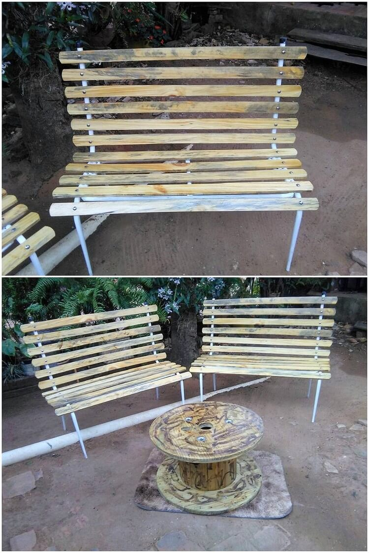 Pallet Patio Benches