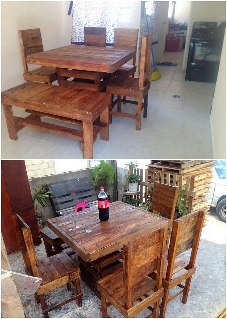 Pallet Patio Dining Set