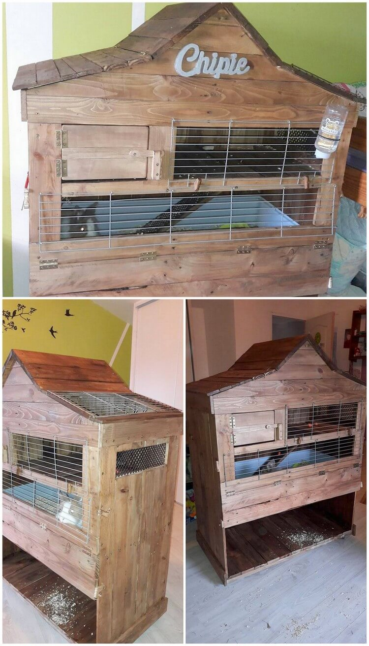 Pallet Rabbit Hutch