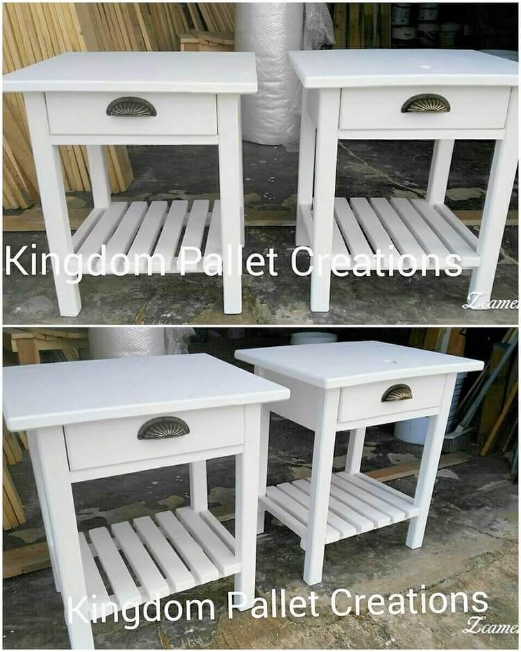 Pallet Side Tables