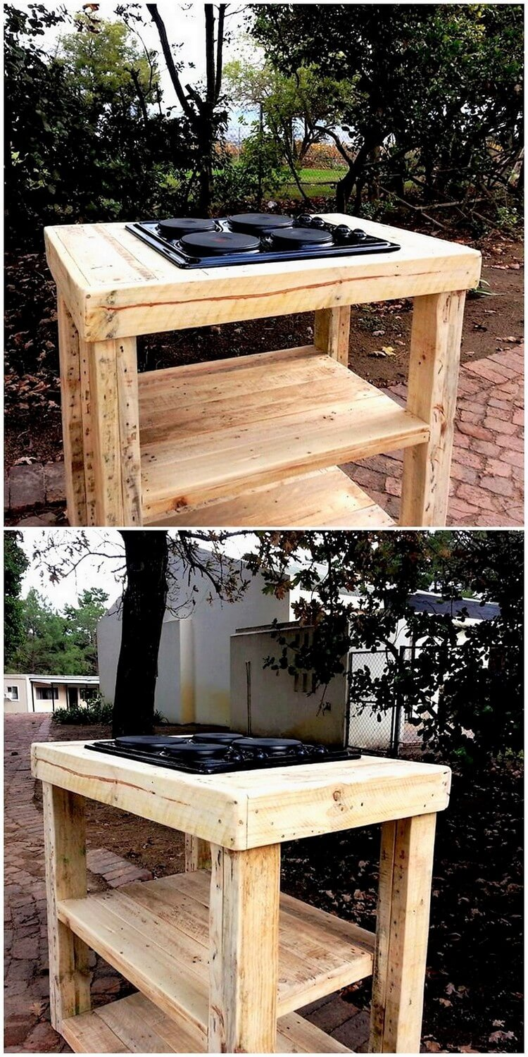 Pallet Stove Table