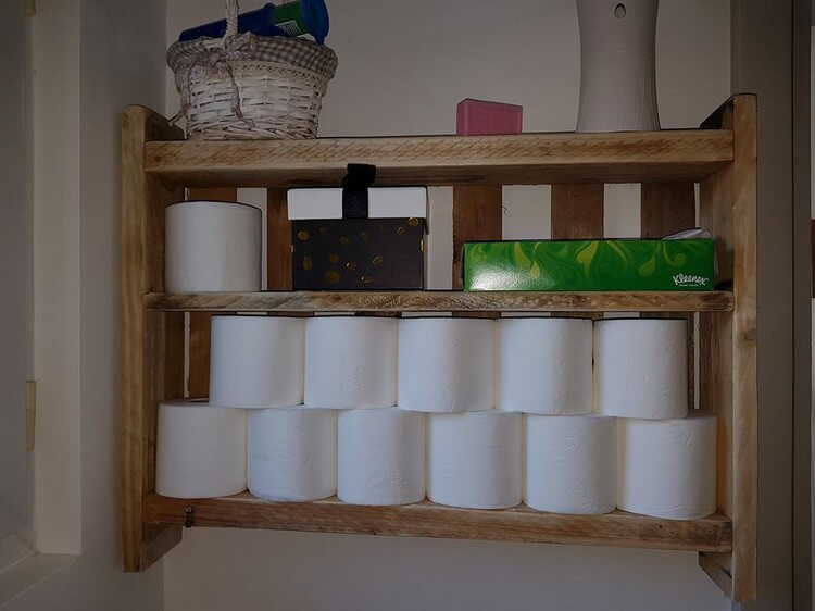 Pallet Toilet Paper Rack