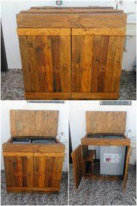 Pallet Washing Machine Cabinet