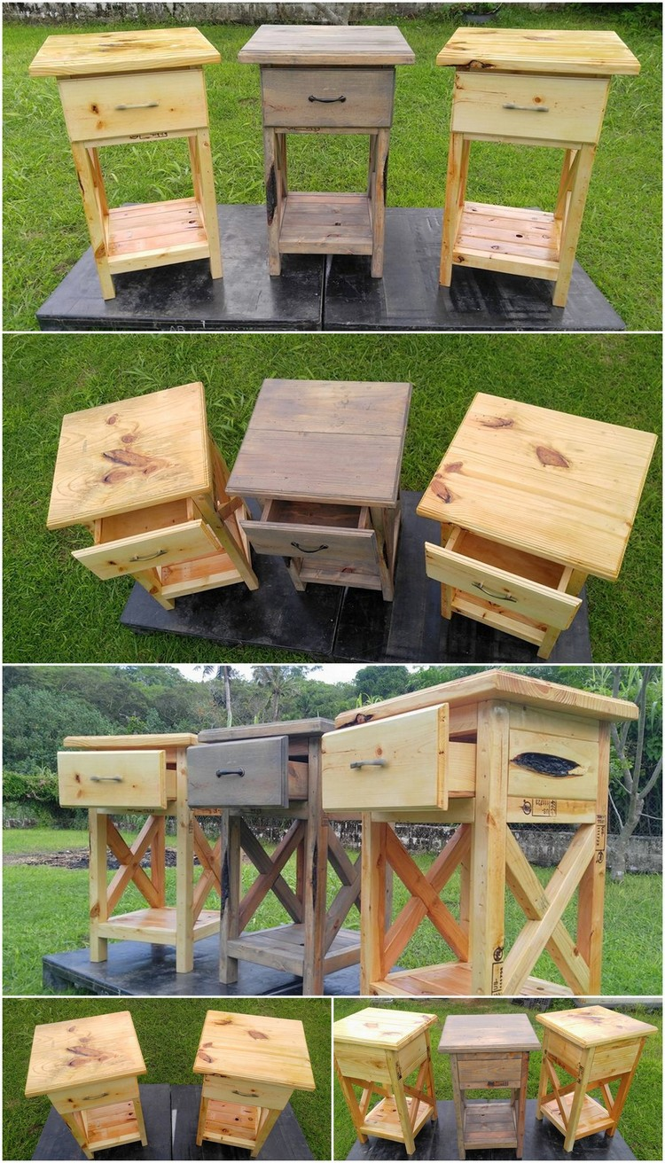 Pure Rustic Pallet Night StandsSide Tables