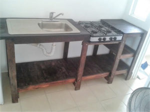 Recycled Wood Pallet Sink for Kitchen