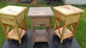 Rustic Wood Pallet Nightstands