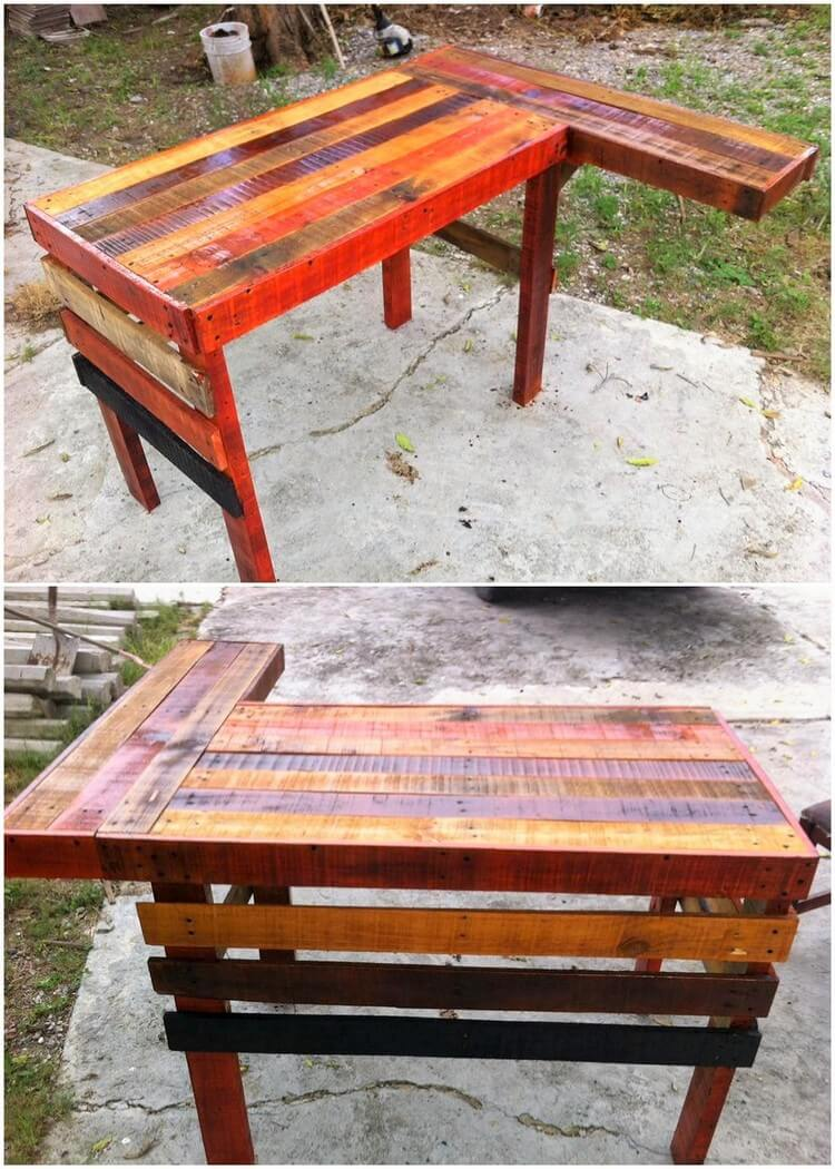 Unique Wood Pallet Counter Table