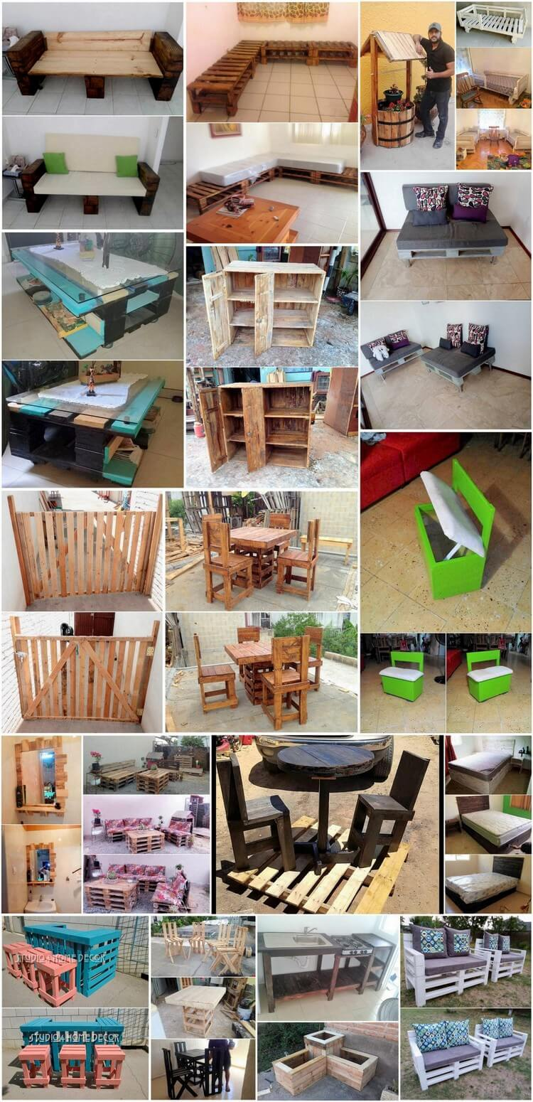 Unique and Brilliant Ideas to Reuse Old Wood Pallets